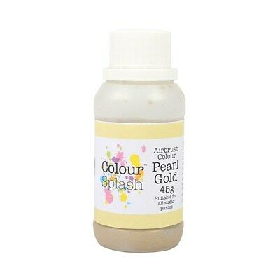 Culpitt Colour Splash Edible Airbrush Colour - Pearl Gold 45g