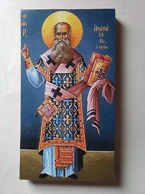 Saint  Athanasius the Great, Orthodox  Icon, Size 5, 7/16 X 9, 15/16 Inches