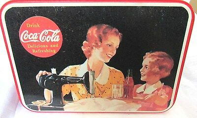 """COCA COLA  """"IT'S PAUSE TIME MOTHER WITH COKE"""" STYLE COLLECTIBLE   Tin Box 1993"""
