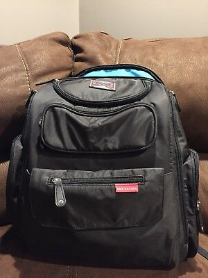 NWT Bag Nation Black Diaper Bag Backpack w/Changing Pad