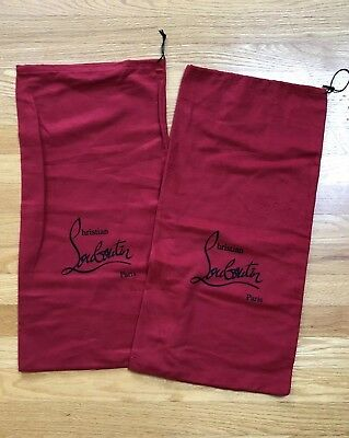 """Set of 2 Christian Louboutin Red Dust Bag for shoes or clutch 11.5x23.5"""""""