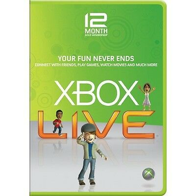 XBOX LIVE 12 (+1) MONTH GOLD MEMBERSHIP CODE (Europe Region)