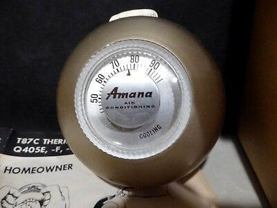 1956 Honeywell T87 C Amana Air Conditioning Thermostat Mint in Box with papers