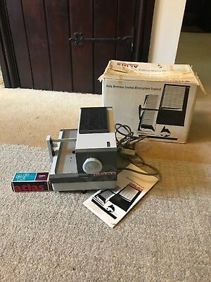 Vintage ALDIS SN 12 Slide Projector Boxed + Instructors