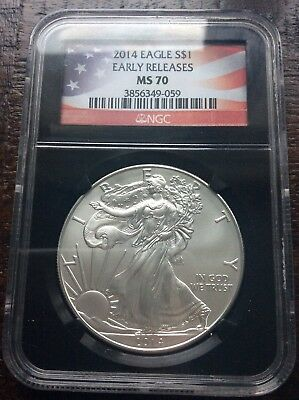 2014 Silver Eagle 2014 S$1 MS 70 Early Releases NGC