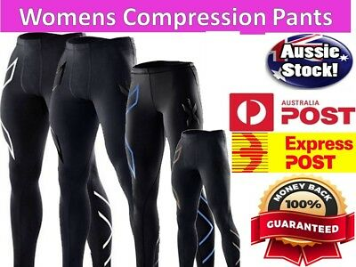 2XU WOMENS LONG Compression Tights Pants LADIES SIZE XS S M L XL Sport Run Gym