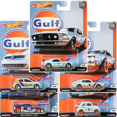 Hot Wheels 2019 Car Culture Gulf Racing - Set Of 5 - Fpy86-956G - In Stock