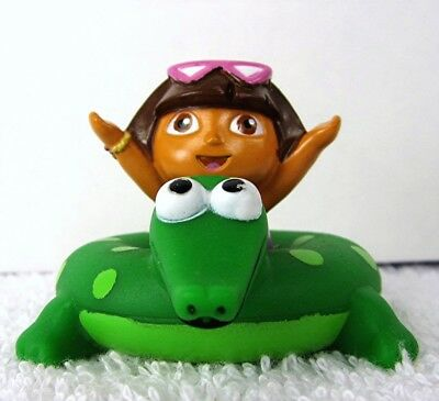 MINI Bath Toy DORA the EXPLORER on Green Alligator Raft