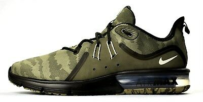 f48b4dac3db New Nike Air Max Sequent 3 Premium Camo Men s Running Shoes Olive Beach  Sneakers