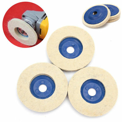 3pcs Set Kit 4 Inch Wool Buffing Angle Grinder Wheel Felt Polishing Disc Pad Top