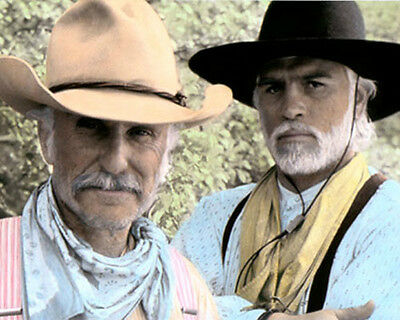 """ROBERT DUVALL TOMMY LEE JONES LONESOME DOVE 1989 11x14"""" HAND COLOR TINTED PHOTO"""