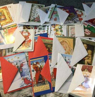 Huge Lot Vintage Antique  Christmas  Greeting Cards