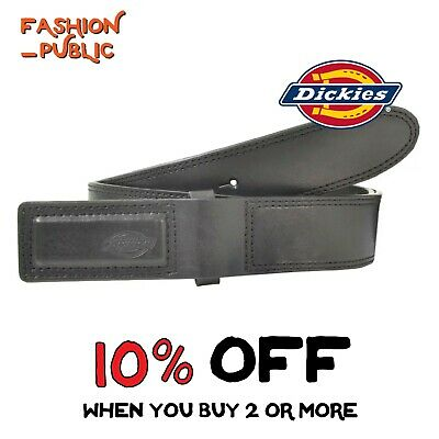 Dickies Belt Mechanics Black Belt Genuine Leather Covered Buckle Industrial Belt
