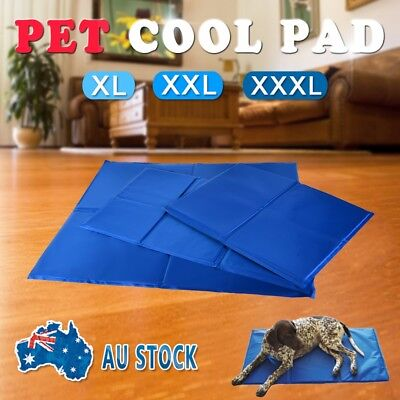 Pet Cool Gel Mat Dog Cat Bed Non-Toxic Cooling Dog Summer Pad 3 Size FAST POST