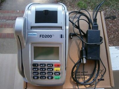 First Data FD200 Ti Credit Card Machine with power supply