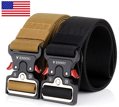 "49"" ENNIU Men Tactical Buckle Belt Military Nylon Belt Training Strap US Shiping"