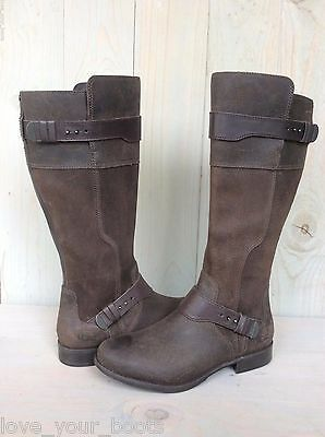d492d136576 UGG DAYLE LODGE Brown Leather Awesome Riding Boots Us 7 Eu 38 New ...