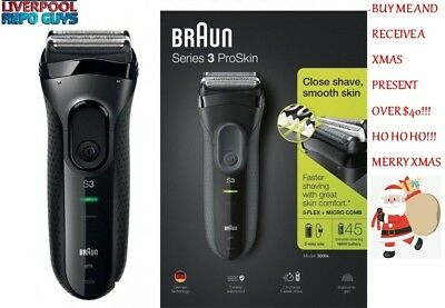 Braun Series 3 ProSkin 3050cc Rechargeable Electric Shaver with  Clean Charge sys 86b43442b6