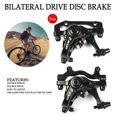 2Pcs Road Bike Mechanical Disc Brake Front & Rear Caliper Cycling Bicycle Kit
