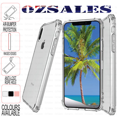 XS Max XR X 6 6s 7 8 Plus Soft Shockproof Tough Clear Case Cover For Apple
