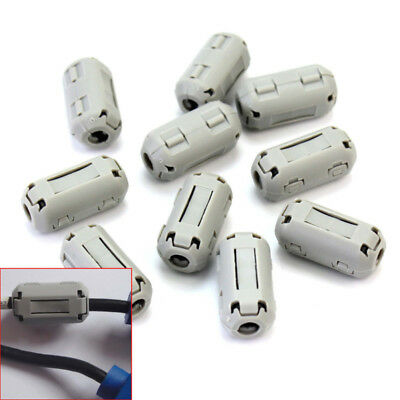 10X Snap On Ferrite Core Noise Filter Suppressor EMI RFI Clip for A/V USB Cable