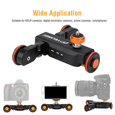 YELANGU Electric Auto dolly Video Car Motorized Track Slider Skater for Camera B