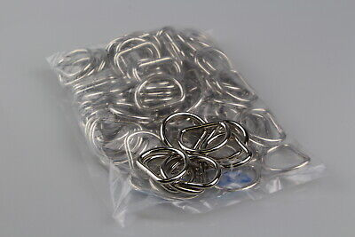 Dee d ring 100 x welded steel 32mm x 5mm horse rugs dog collars leads
