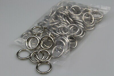 O Ring 100 x welded steel 25mm x 5mm horse rugs dog collars leads