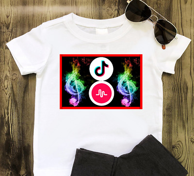 TikTok Tik Tok Mucially Childrens Kids T Shirt Unofficial  Boys girls Top
