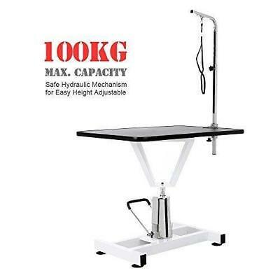 Large Adjustable Beauty Pet Dog Cat Trimming Grooming Table Desk Hydraulic 15.5