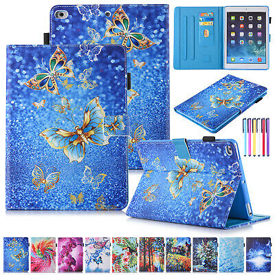 For iPad 9.7 6th 2018/Air 1 2 Pattern Leather Case Wallet Stand Shockproof Cover