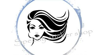 Wall Decal Beauty Spa Salon Pretty Woman Hair Barbershop Sticker 58 x 67cm A048