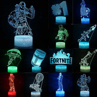 3D Lamp Table LED Night Light Fortress Battle Royale Game Kids Xmas Gift 7Colors