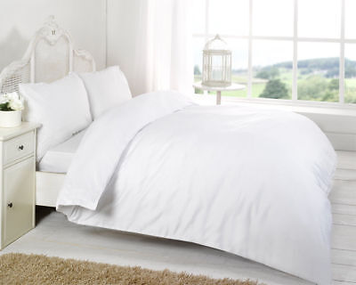 Hotel Quality 600 Thread Count Egyptian Cotton Plain Duvet Cover Set