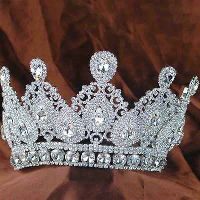 Classic Lady Wedding Bridal Girls Pageant Prom Tiara Hair Jewelry Crown Silver