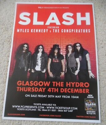 Slash Guns N' Roses 2014 UK live music show memorabilia concert gig tour poster