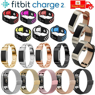 Replacement Band Strap Stainless Steel & Silicone & Leather For Fitbit Charge 2