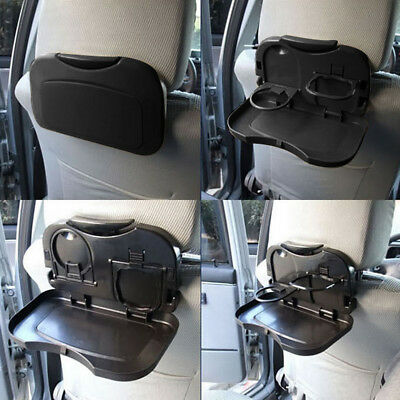 EE_ Car Folding Cup Holder Back Seat Table Drink Food Tray Travel Desk Seraphic