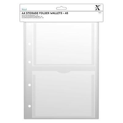 Xcut A4 Embossing Folder Storage Case Wallets (5pk) - with A5 Pockets
