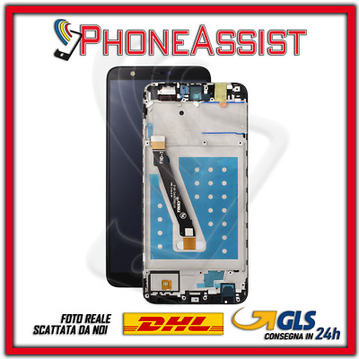 TOUCH SCREEN DISPLAY LCD FRAME Huawei P Smart FIG-LX1 FIG-L21 VETRO Nero