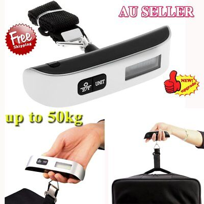 50kg/10g Portable LCD Digital Hanging Luggage Scale Travel Electronic Weight 9B