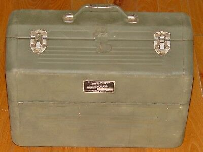 WWII US Army Armorer Mechanics Tool Box Simonsen Cantilever OD Official Issue
