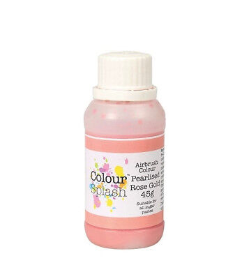 Colour Splash Commestibile a Pennello Colore - Perla Oro Rosa 45g