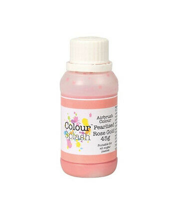 Colour Splash Comestible Pulverizador Color - Perla Oro Rosa 45G