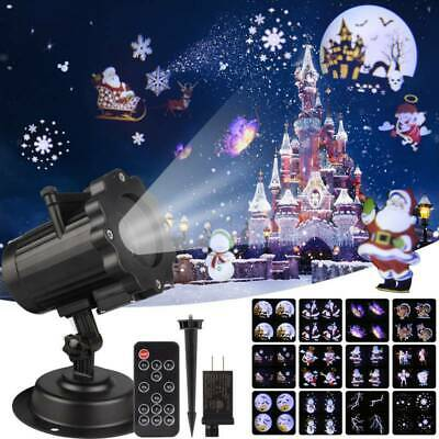 LED Snow Projector Lights Flashlight Outdoor Garden Landscape Xmas Party CANADA