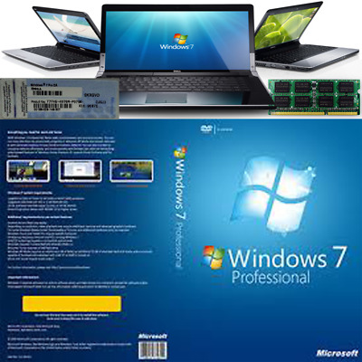 Windows 7 Pro 32-Bit Installation Format HDD DVD Disc and COA with key sticker