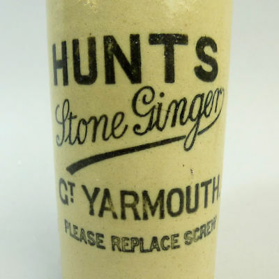 Victorian Hunts Great Yarmouth Ginger Beer Bottle