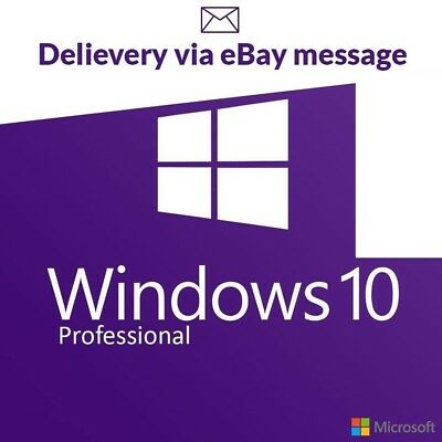 Windows 10 Pro Professional Activation Key 32/64bit Genuine Lifetime Activation