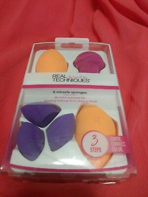 ☆ REAL TECHNIQUES 4 Miracle Complexion Sponges BASE Value Pack 91553 SAM & NIC ☆