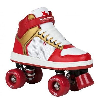 Rookie Hype Hi Top Trainer Quad Roller Skates Red/Gold. Rollerskates Quad Skates